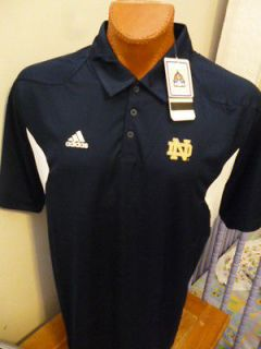 Adidas Adi Zero Notre Dame Fighting Irish Polo Shirt NWT S $65 Retail