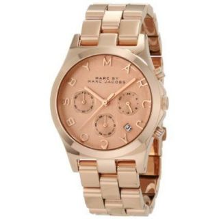 Marc by Marc Jacobs Womens Chronograph Rose Gold Tone Watch MBM3107