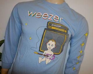 RaRe *2002 WEEZER* vtg rock band concert tour L/S t shirt (M) Rivers