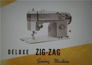 DeLuxe Zig Zag Sewing Machine Instruction Manual On CD