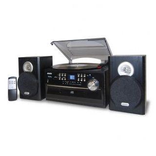 NEW IN BOX JENSEN 3 SPEED STEREO TURNTABLE CD SYSTEM CASSETTE AM/FM