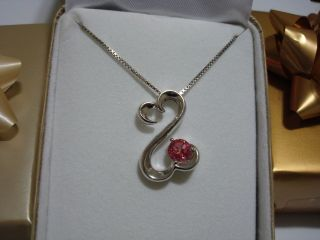 Open Hearts By Jane Seymour Pink Swarovski Sterling Silver Necklace