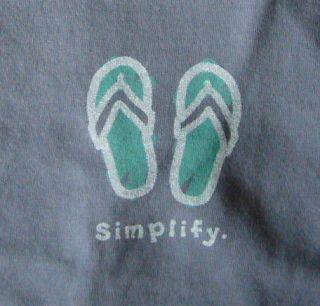 Life is good Womens Crusher tee   Flip Flops Simplify   true blue