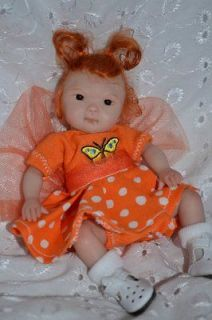 Original Art OOAK Polymer Clay baby doll 5.5 Jenny by Yulia Shaver