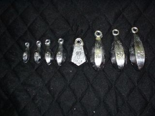 10  20 oz bank sinkers   lead fishing weights   made from a do it