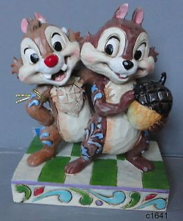 Jim Shore Disney CHIP AND DALE NUTTY BUDDIES   New In Box