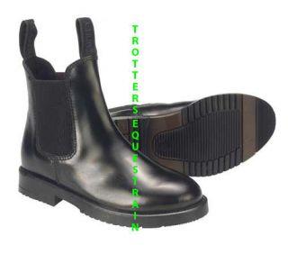 new childs size 2 horse riding jodhpur/jodphur boots black childrens