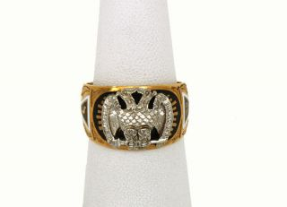 vintage masonic ring gold in Jewelry & Watches