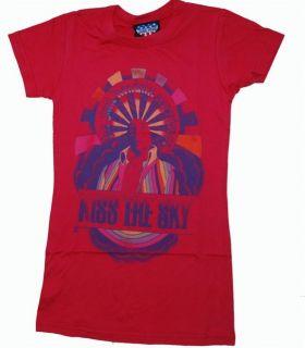New Authentic Junk Food Jimi Hendrix Kiss the Sky Juniors T Shirt