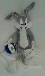 40 jumbo bugs bunny looney tunes space jam Ace stuffed animal plush