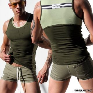 RUFSKIN SCOPE FULL CUT ARMY TRAINING DENIM SWIM SHORT SHORTS
