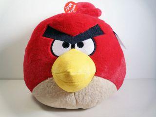 Angry Birds 12 Jumbo Big Red Bird Plush New with Sound 12 inch