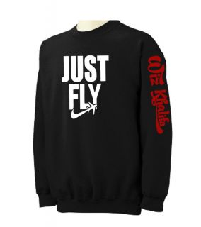 JUST FLY Wiz Khalifa Crewneck Sweatshirt lil Hip Hop Rap ymcmb Taylor