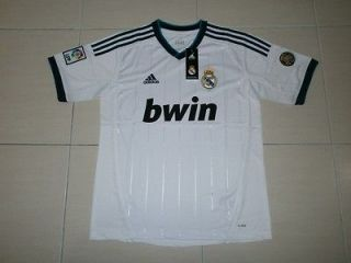 BNWT REAL MADRID HOME JERSEY T SHIRT 2012/2013 SIZE M XL #
