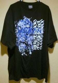 Joker Brand Mens Clown Logo Graffiti Graphic T Shirt Black Size 3XL