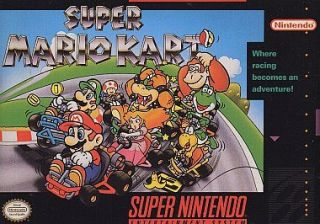 Super Mario Kart (Super Nintendo, 1992) SNES Racing game   WORKS