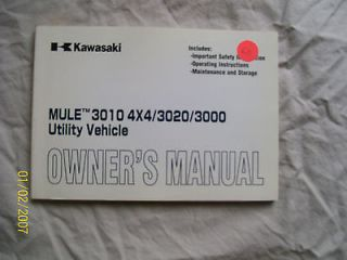 kawasaki mule 3010 4x4 /3020/3000 manual, feb. 2004, part number