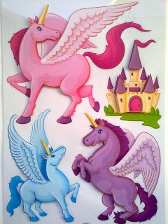 Removable Fairy &Unicorn Art Decor Kids Room/ Decals for Girl