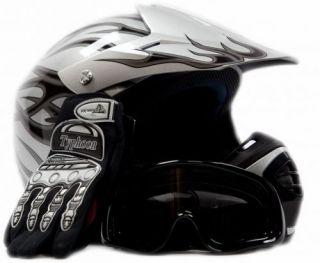 Motocross Dirt Bike Kids Youth ATV Helmet & Goggles XL