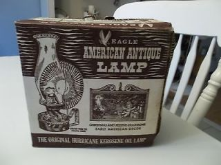 Eagle American Antique Hurricane Kerosene Oil Lamp Reproduction NIB