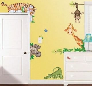 Stick Jungle Safari Wall Decor Set   Decal Stickers for Kids Nursery
