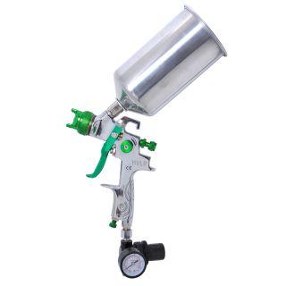 Tip HVLP Spray Gun Auto Paint Metal Flake w/ Gauge Coat Primer