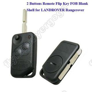 New 2 Buttons Remote Flip Key FOB Blank case Shell for LANDROVER