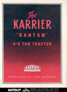 1949 Karrier Bantam 4 5 Ton Tractor Truck Brochure