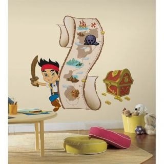 NEVERLAND PIRATES Wall Decal Growth Chart Room Decorations Sticker