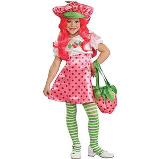 STRAWBERRY SHORTCAKE Deluxe Child COSTUME Small 4 6 New Girls Ages 3 4