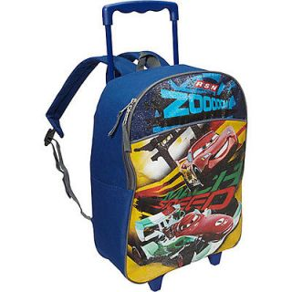 Disney Cars 16 Inch Rolling Backpack   Black