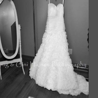 ALLURE BRIDAL WEDDING DRESS GOWN STYLE #8806 WHITE SIZE 8