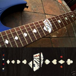 Playing Card (WS) Fret Markers Inlay Sticker Guitar