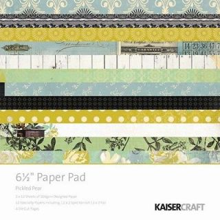 Kaisercraft   Pickled Pear Collection   6.5 x 6.5 Paper Pad