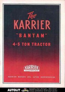 1951 Karrier Bantam 4 5 Ton Tractor Truck Brochure