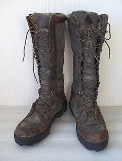 Rocky 16 Big Tom Snake Boots Realtree Hardwoods Camo Hunting ~ Sz 10