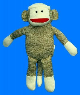 SOCK MONKEY LARGE PLUSH KOHLS CARES 15 Pre owned fine as a GIFT!