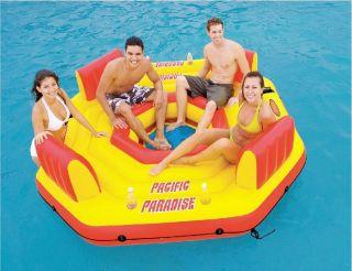 "Paradise Island Lounge"" Inflatable Float w/Free Air Pump (NIB"