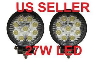 2x 27W LED Work Light Lamp Jeep Off Road Forklift Bowfishing Flood