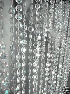 Curtains Iridescent Diamond Crystal 9 Feet Long for wedding Backdrops