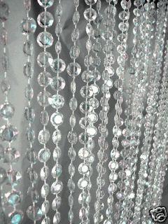 Curtains Iridescent Diamond Crystal 9 Feet Long for wedding Backdrops