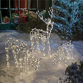 Animated Lighted Reindeer Family Set 3 Christmas Yard Decoration