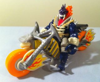 Ghost Rider w/ Cycle Action Figure (1995, Toy Biz) Marvel