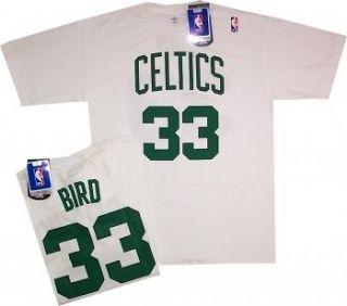 Boston Celtics Larry Bird White Pro Style Throwback Shirt White Net