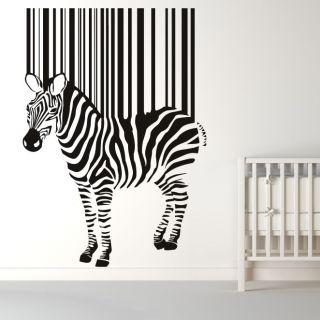 Zebra Barcode Stripes Animals Wall Art Stickers Wall decal Transfers