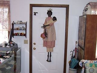 Life Size!! Long Tall Sallie & Her Baby Primitive Rag Doll New!!!