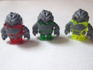 Lego power miner minifig 3 Rock Monster  red,neon green, green  New