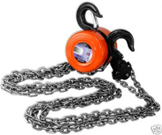 TON MANUAL OPERATED CHAIN FALL ENGINE HOIST BLOCK AND TACKLE LIFT TOOL