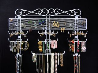 Jewelry Organizer Over The Door Or Wall Mount Holds 300 Pcs Jewelry