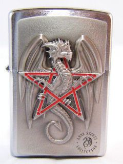 Original Zippo Lighter Anne Stokes Magic Dragon Emblem NEW NIB RAR